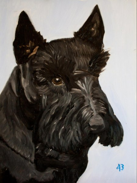 Bush's portrait of Barney.