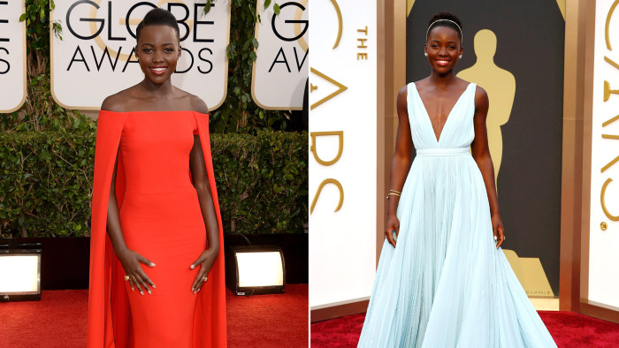 BEVERLY HILLS, CA - JANUARY 12:  Actress Lupita Nyong'o attends the 71st Annual Golden Globe Awards held at The Beverly Hilton Hotel on January 12, 20...