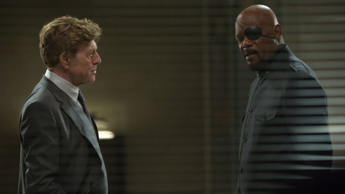 "Robert Redford and Samuel L. Jackson in ""Captain America: The Winter Soldier"""