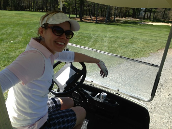 "Dylan hasn't been playing golf for too long, but says she's ""obsessed."""