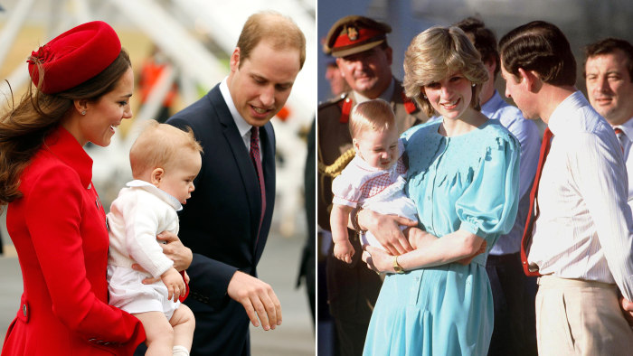 The visit to New Zealand by 8-month-old Prince George is reminiscent of a similar trip his father, Prince William, took with his parents when he was the same age.