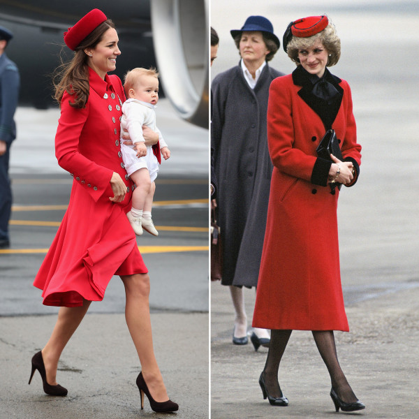 WELLINGTON, NEW ZEALAND - APRIL 07:  Catherine, Duchess of Cambridge and Prince George of Cambridge arrive at Wellington Military Terminal on an RNZAF...