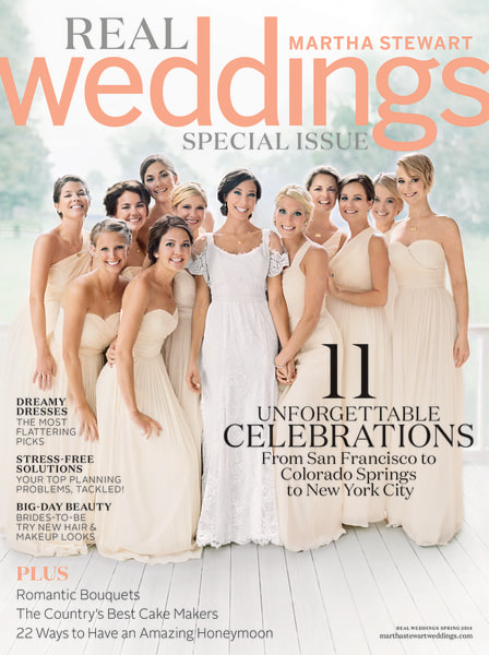 Jennifer Lawrence on the cover of Martha Stewart Real Weddings.