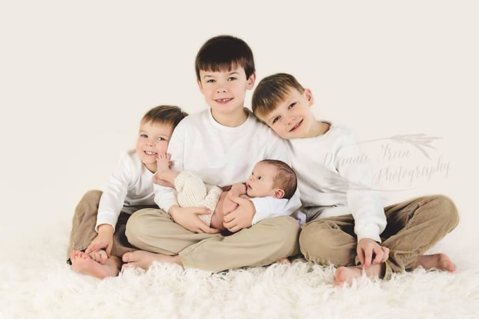 Casey Shuler Tidwell is a SAHM to four sons under the age of 7.