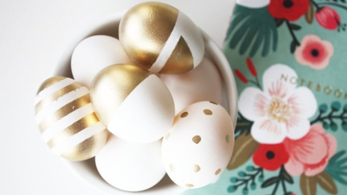 Gold & white eggs
