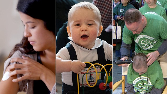 "Women test ""beauty patches"" in new Dove campaign, Prince George has a very public playdate and David Alexander shaves 73 heads to set a Guinness World Record."