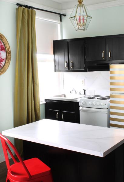 Gold-striped fridge