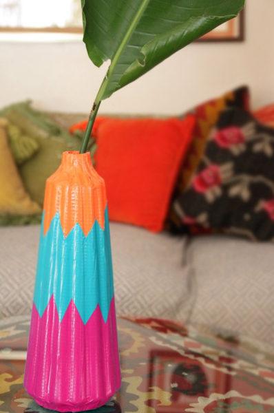Colorblock vase