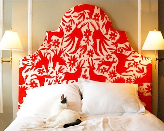 Upholstered Otomi headboard. Today & Break out the tool kit! 11 D-I-Y headboards - TODAY.com pillowsntoast.com