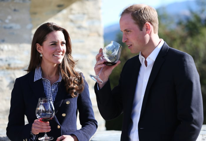 Prince William and Duchess Kate visit a winery in Queenstown, New Zealand.