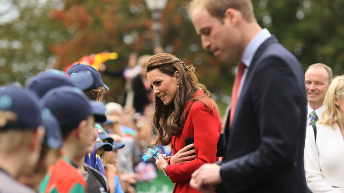 The royal couple greeted well-wishers in Christchurch, New Zealand, on Monday as part of their ongoing trip to New Zealand and Australia.