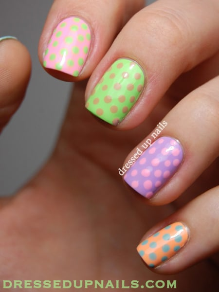 Easter nail art designs to DIY: Polka dots