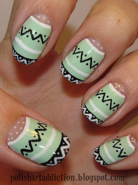 Easter nail art designs to DIY: tribal print
