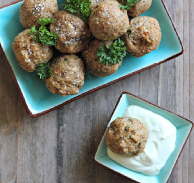 deep-fried matzo balls