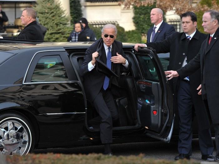 US Vice President Joe Biden arrives at St. John's Church on January 21, 2013 in Washington, DC, hours before US President Barack Obama participates in...