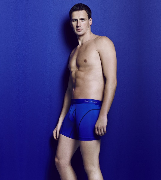 Olympic gold medalist Ryan Lochte poses in Calvin Klein as part of an ad campaign for Macy's.