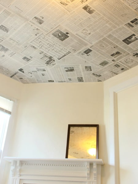 Newspaper ceiling