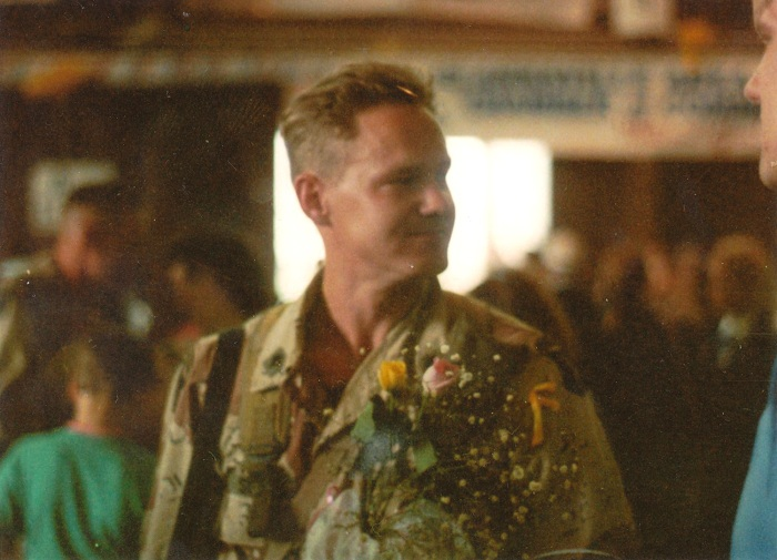 Shawn Stock at the end of the first Gulf War.