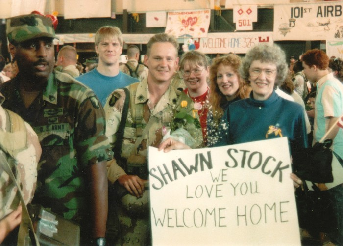 Shawn Stock returning home from the first Gulf War.