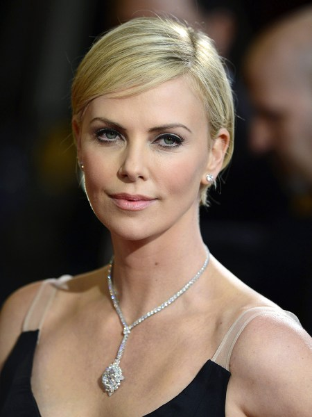 Charlize Theron, short hair