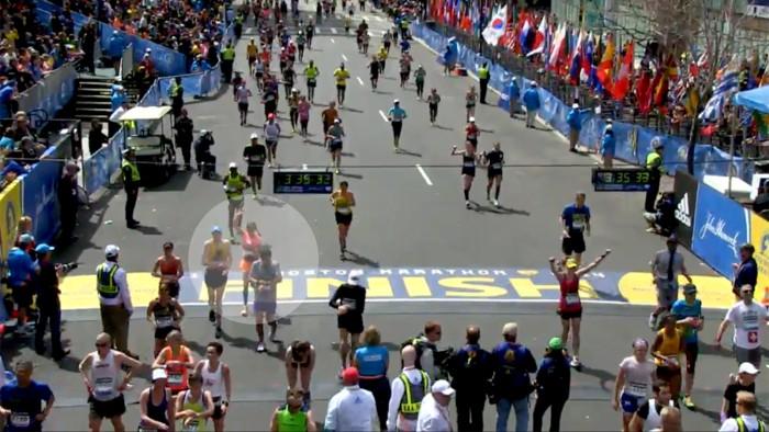 Natalie finishes Boston Marathon.