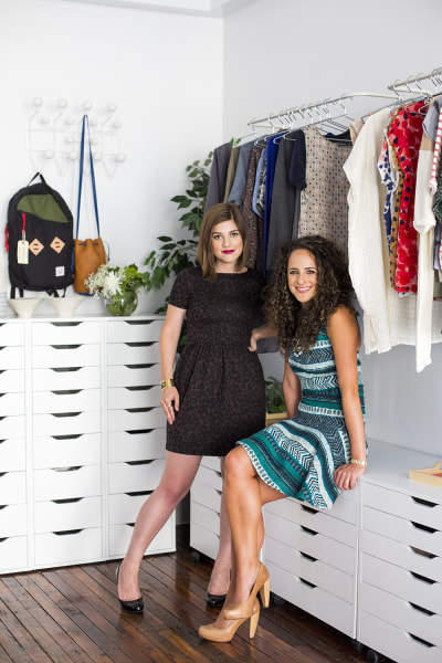 Erica Cerulo and Claire Mazur, co-founders of Of a Kind, in their Manhattan office.