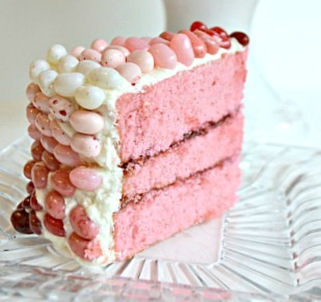 Pink champagne ombre cake