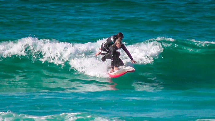 Pascale Honore, a 50 year old T4 paraplegic has finally found a way to experience surfing. A long time love of the ocean she lost the use of her legs ...