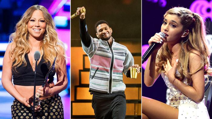 Mariah Carey, Usher And Ariana Grande