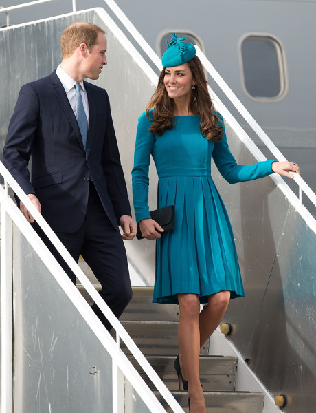 Britain's Prince William and Duchess Kate arrive in Dunedin, New Zealand on April 13, 2014.