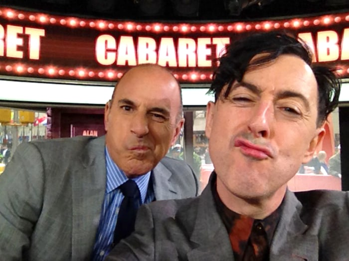 Image: Alan Cumming and Matt Lauer pose for a selfie during an interview on TODAY on April 23.