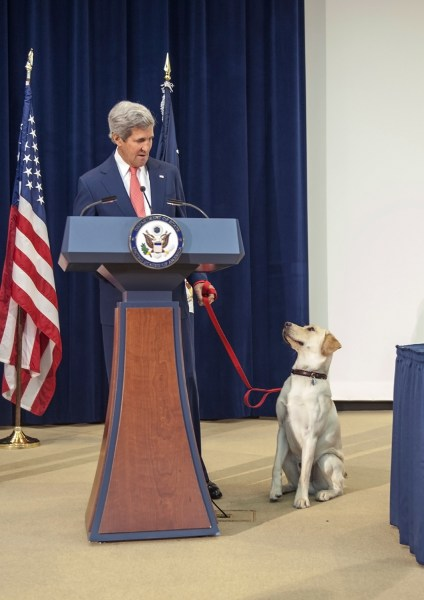 Secretary Kerry Introduces Ben to Children at Take Your Child to Work Day  U.S. Secretary of State John Kerry introduces his beloved dog Ben to childr...
