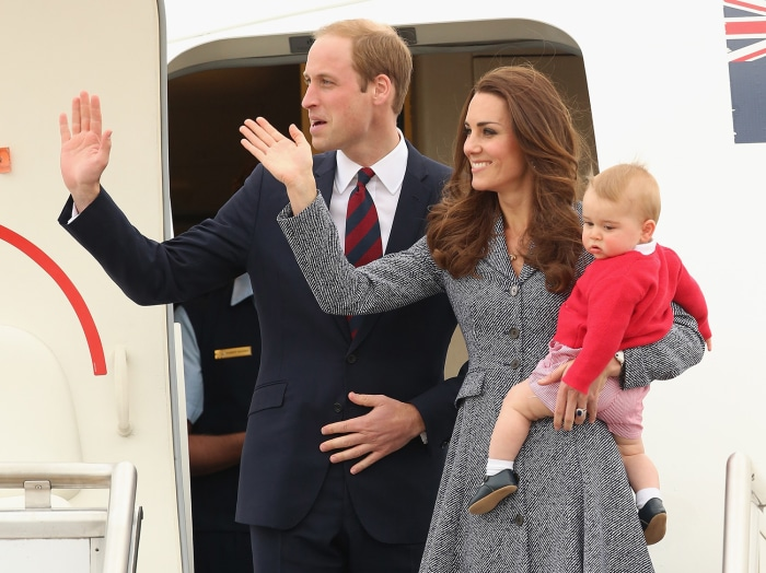 Duchess of Cambridge, Prince William and Prince George
