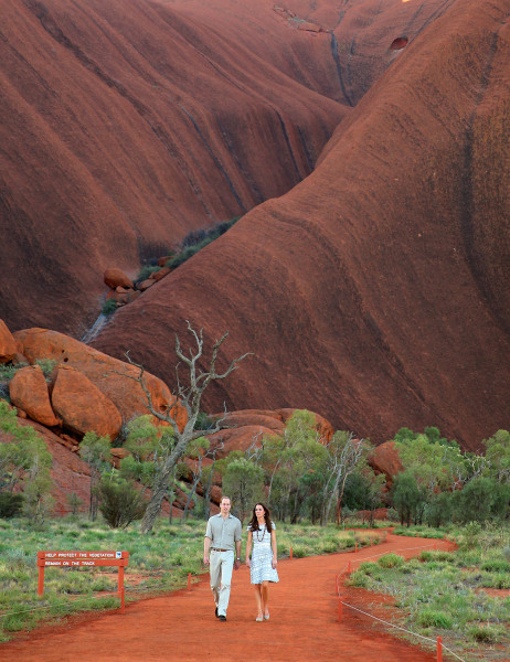 Kate and Will took a stroll at Australia's beloved Ayers Rock on April 22.