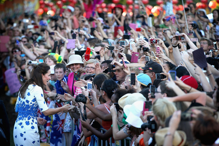 Crowds gathered in Brisbane on April 19 to meet Duchess Kate. Fans went gaga for the royal family wherever they went on their 10-day tour.