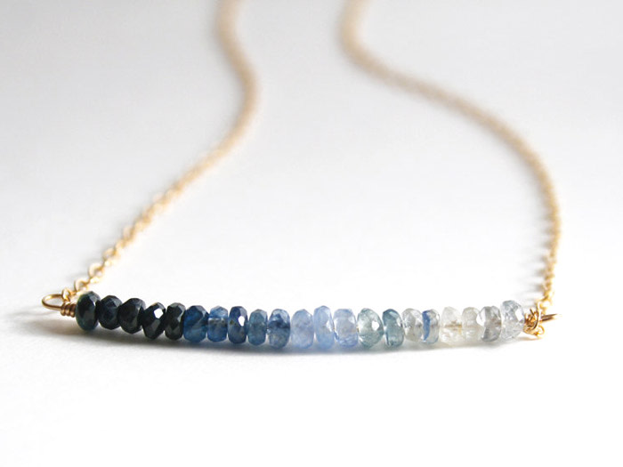 ombre sapphire necklace