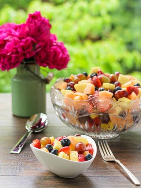 Sparkling summer fruit salad