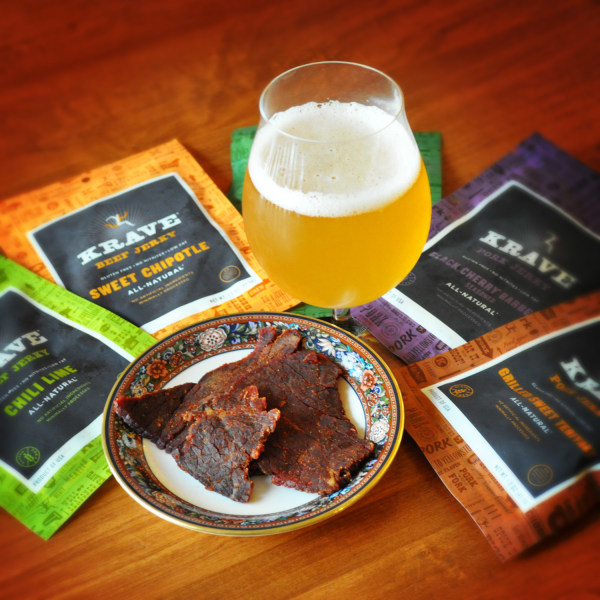 Beer and beef jerky