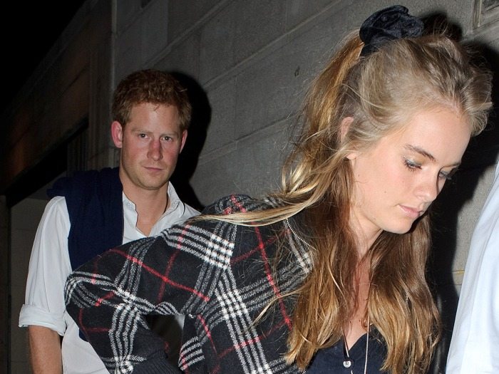 Prince Harry and Cressida Bonas seen here leaving The Prince of Wales Theatre in London this evening after attending a performance of 'A Book of Mormo...