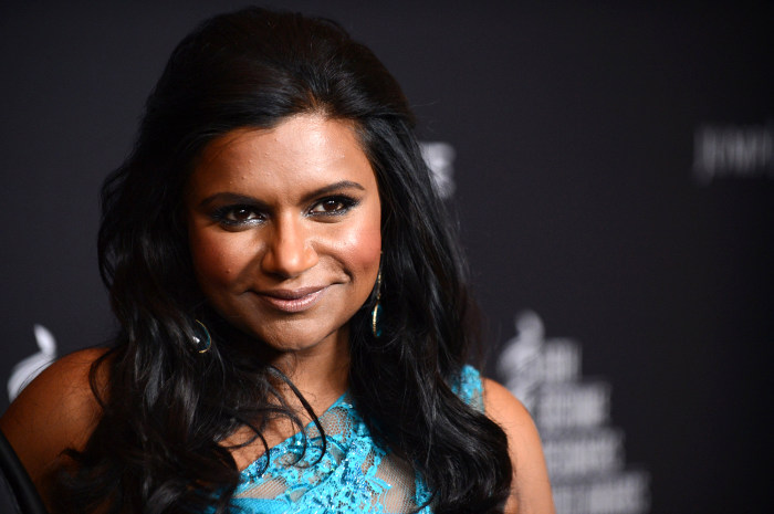 Mindy Kaling arrives at the 16th Costume Designer Guild Awards, on Saturday, Feb. 22, 2014, in Beverly Hills, Calif. (Photo by Jordan Strauss/Invision...