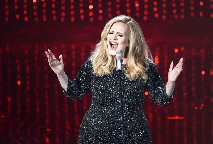 HOLLYWOOD, CA - FEBRUARY 24:  Singer Adele performs onstage during the Oscars held at the Dolby Theatre on February 24, 2013 in Hollywood, California....