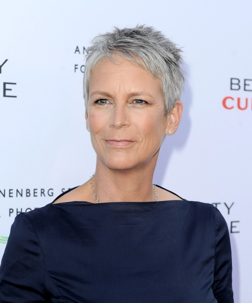 "LOS ANGELES, CA - MAY 19:  Actress Jamie Lee Curtis arrives at the opening night of ""Beauty Culture"" at the Annenberg Space for Photography on May 19,..."