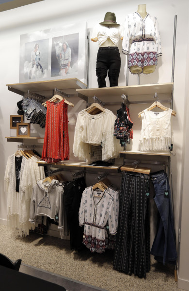 The new back-to-school looks for the Kendall and Kylie collection at PacSun were on display in July at the NorthPark Center PacSun store, in Dallas, Texas.