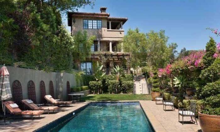 Mischa Barton's Beverly Hills home includes a pool and spa on the grounds.