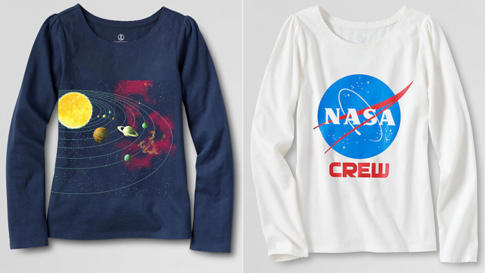 Lands' End introduced these new science-themed clothing options for girls after an uproar online.