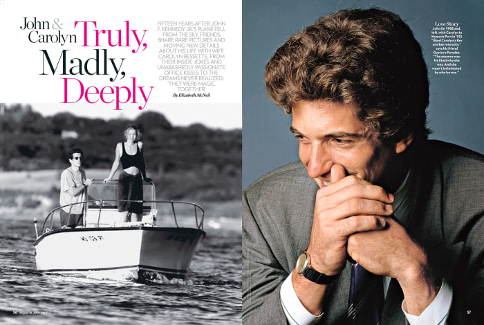 JFK Jr., Carolyn Bessette in People magazine