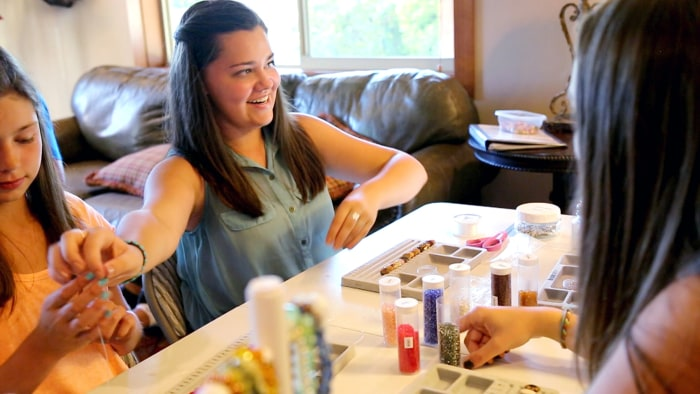 Greer Gates makes jewelry to raise money for cancer research.