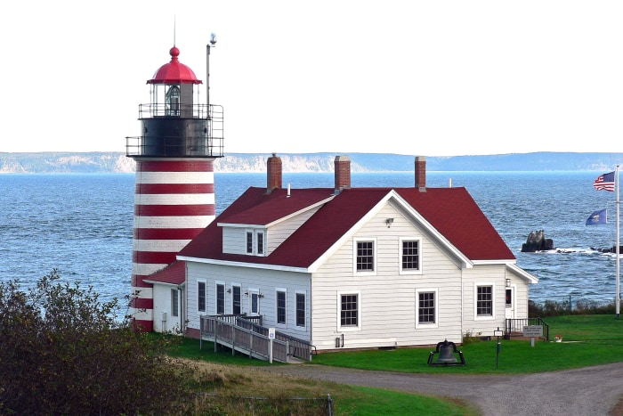 West Quoddy Head Light House in Lubec, Maine.