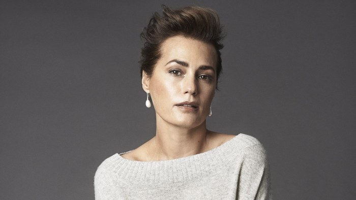 The Winser London Autumn Winter 2014 campaign features model Yasmin Le Bon, 49.