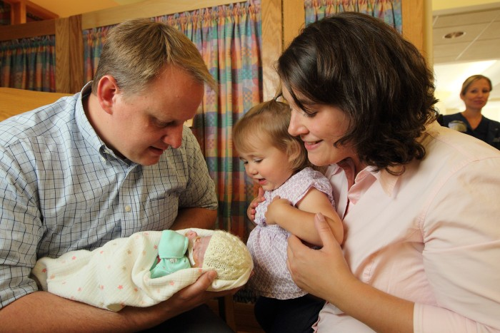 Matthew and Heidi Van Kirk with baby Alexandra (Sasha) and daughter Josephine